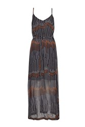 Great Plains Sand Dunes Maxi Dress Navy