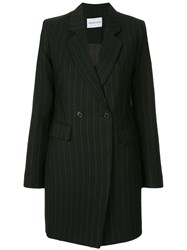 Strateas Carlucci Striped Plated Blazer Dress Black