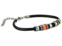 Gypsy Soule Smooth Leather Beaded Bracelet Black Bracelet