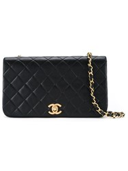 Chanel Vintage Full Flap Shoulder Bag Black