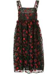 Shrimps Lucia Embroidered Full Dress Black