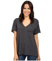 Project Social T Drewry Pocket Tee Coal Women's Shirt Gray