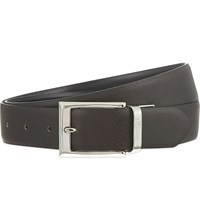 Canali Reversible Leather Suit Belt Blk Brwn