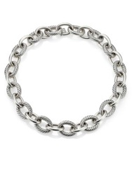 David Yurman Oval Extra Large Link Necklace 17 Silver
