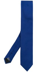 Armani Collezioni Classic Tie Men Silk One Size Blue