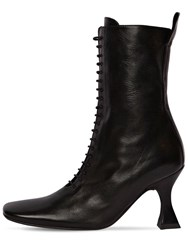 Miista 80Mm Yana Lace Up Leather Boots Black