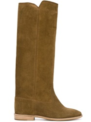 Isabel Marant Etoile Concealed Wedge Boots Brown