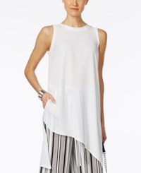 Cable And Gauge Asymmetrical Tunic Top Ivory