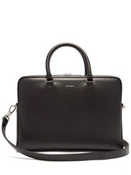 Burberry Ainsworth Leather Briefcase Black