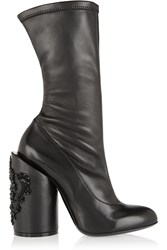 Givenchy Crystal Embellished Leather Boots