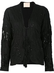 Loyd Ford Sequin Embellished Jacket Black