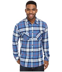 Quiksilver Fitzthrower Flannel Star Sapphire Men's Clothing Blue