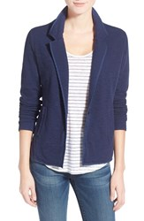 Women's Caslon One Button Knit Blazer Navy Peacoat