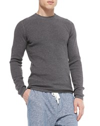 Vince Long Sleeve Thermal Shirt Charcoal Grey Men's