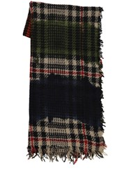 Faliero Sarti Marchisio Cashmere And Wool Blend Scarf Multicolor