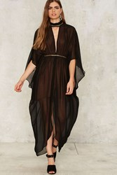 Nasty Gal Collection Chiffon Another Level Sheer Dress Black