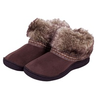 Totes Woodland Boot Slippers Brown