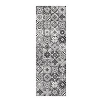 Hibernica Small Tiles Vinyl Floor Mat Black White Black And White