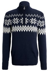 Dale Of Norway Myking Jumper Navy Off White Light Charcoal Dark Blue