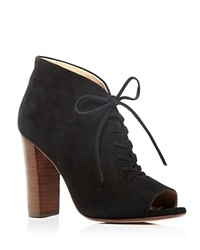 Splendid Janessa Open Toe Lace Up High Heel Booties Bloomingdale's Exclusive Black