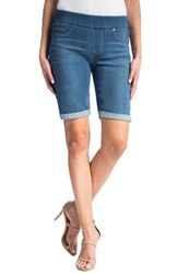 Liverpool Jeans Company Women's Sienna Pull On Denim Bermuda Shorts