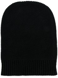 N.Peal Knitted Beanie Hat Black