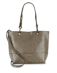 Calvin Klein Reversible Faux Leather Tote Taupe