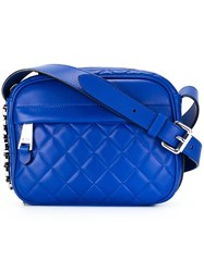 Moschino Quilted Crossbody Bag Blue