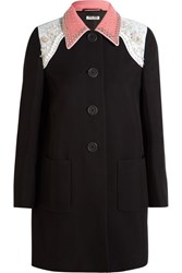 Miu Miu Embellished Cady Coat Black