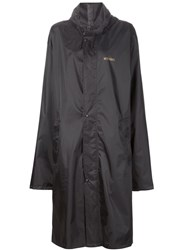 Vetements Long Raincoat Black