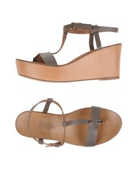 N.D.C. Made By Hand Footwear Thong Sandals Women Dove Grey
