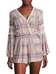 L Space Lovestruck Printed Jumpsuit Coverup Cream Multi