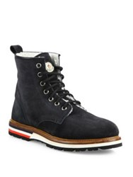 Moncler New Vancouver Leather Boot Charcoal