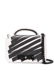 Moschino Scribble Print Shoulder Bag White