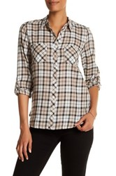 Soft Joie Collared Plaid Shirt Pink