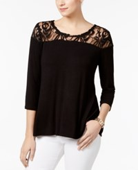 Ny Collection Illusion Swing Top Jet Black