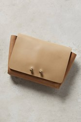 Anthropologie Stella Leather Wallet Nude