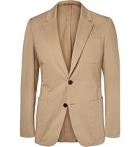 Berluti Stretch Cotton Blazer Beige