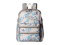 Le Sport Sac Functional Backpack Flower Cluster Khaki Backpack Bags Gray
