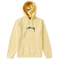 Stussy Smooth Stock Applique Hoody Yellow