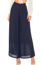 Line And Dot Avery Wide Leg Pant Navy