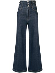 Dolce And Gabbana Flared Loose Jeans Blue