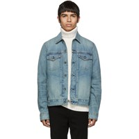 Rag And Bone Blue Denim Definitive Jacket