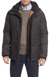 Cole Haan Men's Parka With Faux Shearling Lined Hood