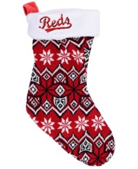 Forever Collectibles Cincinnati Reds Ugly Sweater Knit Team Stocking