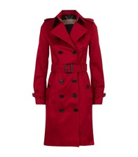 Burberry Cotton Sateen Trench Coat Female Red