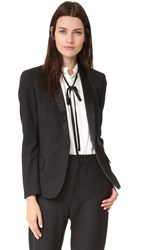 Superfine Sharp Tailored Blazer Black