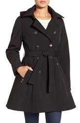 Ivanka Trump Women's Water Resistant Hooded Double Breasted Coat