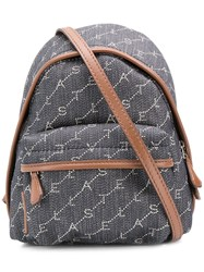 Stella Mccartney Mini Monogram Backpack Blue