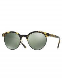 Oliver Peoples Ezelle Polarized Semi Rimless Sunglasses Brown